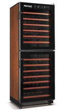 Dual-temperature wine cooler/Hign quality 83 bottles fan & direct cooling wine refrigerator