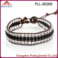 2014 new design hot sell fashion wrap around leather bracelet