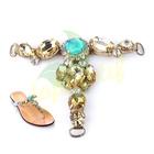 Fashion Crystal Rhinestone Chain Shoe Ornament For Summer Lady Shoes