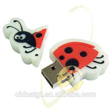2014 Hot sale mini Animal Seven-spotted ladybug cute Shape USB Flash Drive