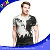 95% polyester 5% spandex short sleeve men's full print t shirt