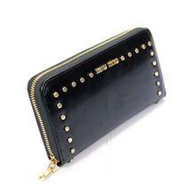 P92 top brand wallet women fashion genuine leather purse rivets pouch retro chain handbag ostrich leather women wallets