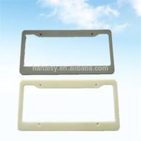 printing blank custom chrome plastic license plate frames
