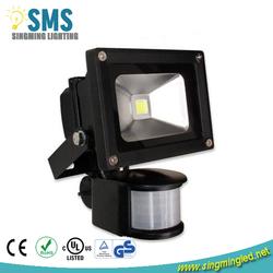 IP65 CE RoHS High Power 10W PIR Sensor LED Flood Light