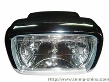 TMMP CG125-6, ALPHA50 ,DELTA 50 head light assy(with chrome plating screw) crystal MT-0102-0077T ,high quality