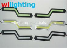 High Power 7W NEW car led daytime running light Z Shape Cob DRL/led cob drl