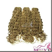 New arrival most popular 100% virgin human honey brown hair weave