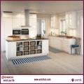 ilha de projeto de cozinha industrial piso
