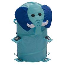 Elephant Collapsible laundry hamper Child kids Pop up deposit barral toys storage