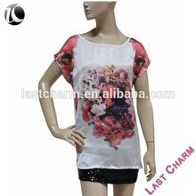 LAST CHARM OEM fashion women's led light t-shirt