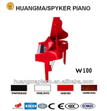 Digital Piano Factory 88 keys Touch Sensitive Hammer Keyboard MIDI Red Polish Grand Piano HUANGMA HD-W100 electric digital piano