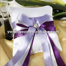 Hot sale purple bowknot wedding ring pillow wedding decoration