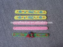 custom slap bracelets/ silicone wristbands/ personalized silicone bracelet