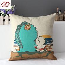Linen Godzilla and Ultraman design cushion