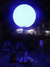 China wholsale outdoor advertising PVC inflatable standing glowing sphere