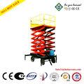High rise tire tipo plataforma elevadora de tijera( levantar la capacidad nominal 450kg) puede instalar un auto- impulsado sistema