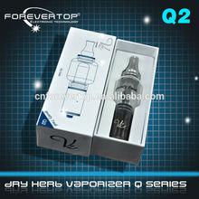 2012 new design cigarette case 100% original q2 water vaporizer q2 tank dry herb vaporizer