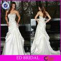 de raso blanco de encaje de cuentas de marruecos y de la boda vestido de noche