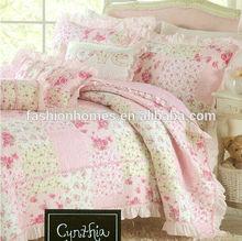 Applique patchwork quilt cover/king size patchwork quilts