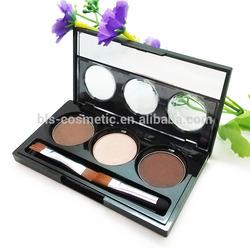3 Colors Eyeshadow Eyebrow Powder Cosmetics OEM