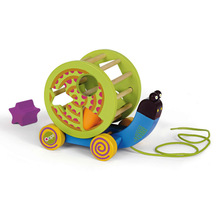 wooden pull toy with shape sorter
