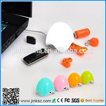 cute Egg shape usb hub lamp usb LED lamp hub combo for night novelty breathing hub lamp