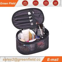 Flower tote rolling makeup bag toiletry women zipper handles makeup bag