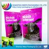 Custom printing resealable food grade plastic bags