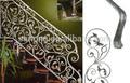 galvanizado decorativos em ferro forjado interior trilhos da escada