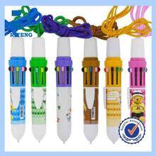 Promotion 10 In 1 Cartoon Multicolor Plastic Ball Pen