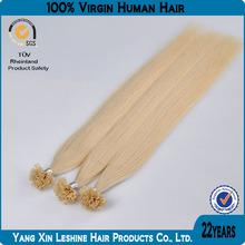 Wholesale direct keratin cheap 100%human remy V Tip Pre-bonded Hair