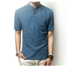 stand collar cotton kurti sexy man t shirts different colors tee
