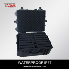 Newst Coming size-544025 waterproof and shockproof hard plastic transport case for 14 ipad
