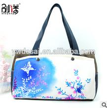 New arrive elegant design canvas woman handbags