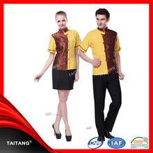 high quality stylish hotel uniform design bellboy uniform for hotel