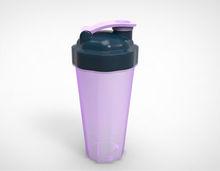 Custom Logo 500ml/700ml BPA Free Plastic Shaker Cup with Stainless Steel Blende Ball