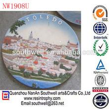 resin award plaque Europe city decorativ wall plaque