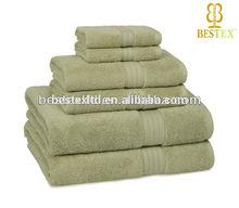 Bulk Celery Commercial Plain 100% cotton Terry Bath Export towel