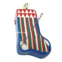 polymer clay skate boot european charm