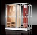 pequeña sala de sauna combinado con ducha de vapor sala de baño