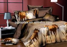 korean king size round horse design bedding sheet sets