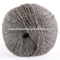 2014 Best selling fancy blended merino alpaca wool yarn with medium smoky gray color