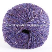 2014 Best selling fancy blended merino alpaca wool yarn with lavish blue violet color