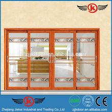 JK-AW9155 fine facade 4 panel sliding glass aluminum door