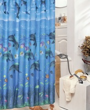 100% Polyester Ocean Bath Curtains Shower Stuff