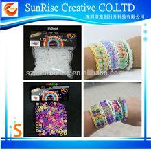 Popular Gift Colorful DIY Handmade bracelet loom bands sets Loom bands braided bracelet beads uv color beads