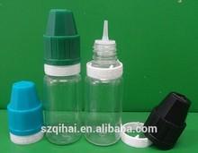 ISO8317 PET clear 10ml e liquid bottle, wholesale plastic containers