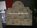 2014 yeni tasarım fransız Barok kumaş döşemeli ahşap tek kişilik yatak headboard MPAC- 043
