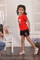 china t-shirts and pants set baby girls clothing kid's clothes set