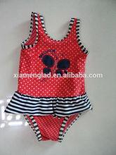 Sweet kids girls bathing suit red beach wear